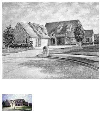 House pencil drawing 4