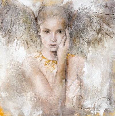Angel Drawing by Elvira - Buy at Art.com