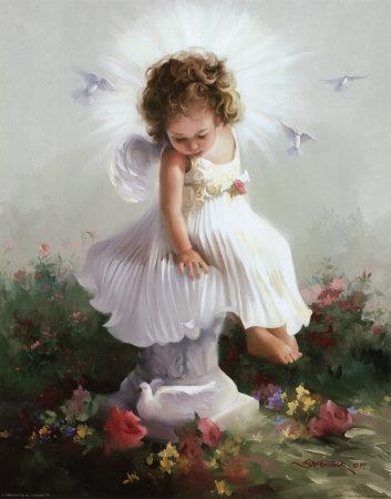 Baby Angel Drawing - Buy at Art.com