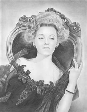 Bette Davis Pencil Portrait