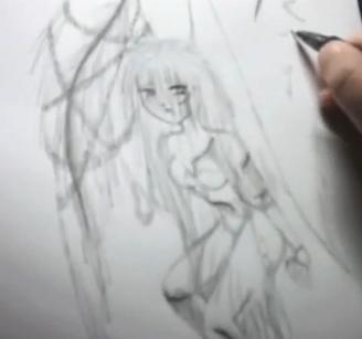 Draw Cartoon Angel - Fallen Angel 12