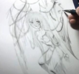Draw Cartoon Angel - Fallen Angel 13