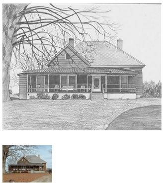 House pencil drawing 2