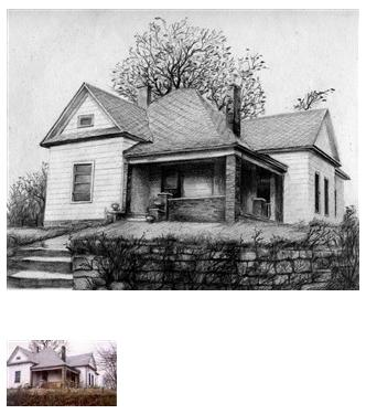 House pencil drawing 5