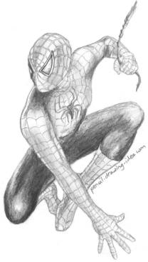Pencil Drawings of Spiderman 2