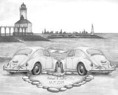 Drawings of Cars - Love Bugs II