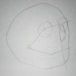 Pencil drawing of a skull - Sketch 2