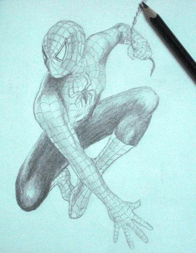 Pencil Drawings of Spiderman 1