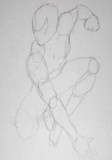 Pencil Drawings of Spiderman - Sketch 1