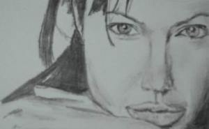 Celebrity drawing pencil - Angelina Jolie 16