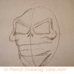 Evil skull - Sketch 1