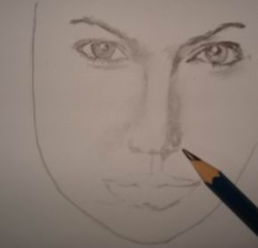 Celebrity drawing pencil - Angelina Jolie 11