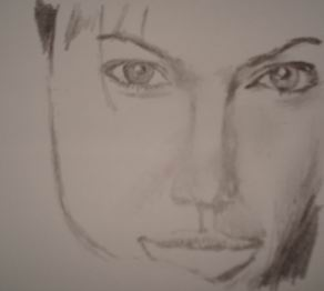 Celebrity drawing pencil - Angelina Jolie 13