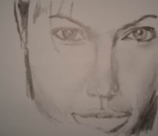 Celebrity drawing pencil - Angelina Jolie 14