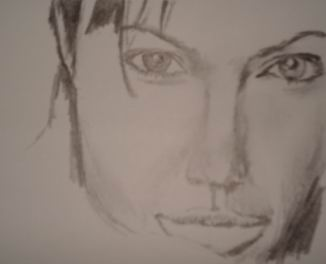 Celebrity drawing pencil - Angelina Jolie 15