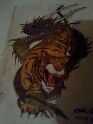Dragon and Tiger drawing