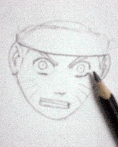 How to draw Naruto - Sketch 4