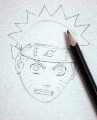 How to draw Naruto - Sketch 5