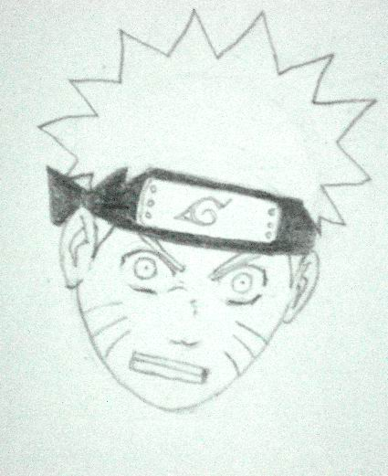 How to draw Naruto - Sketch 6