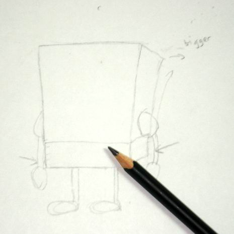 Spongebob's pencil sketch