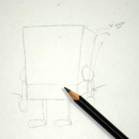 Spongebob's pencil sketch