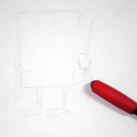 Spongebob's erased pencil sketch