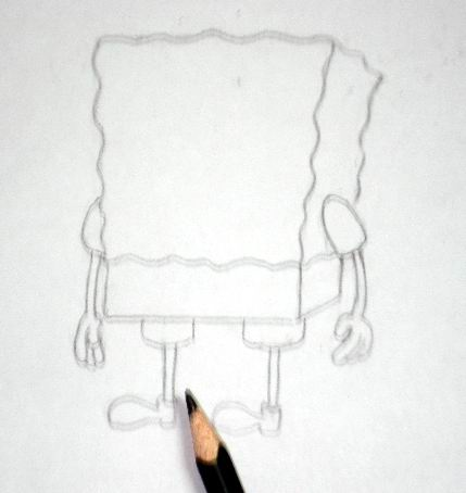 Spongebob's outline pencil sketch