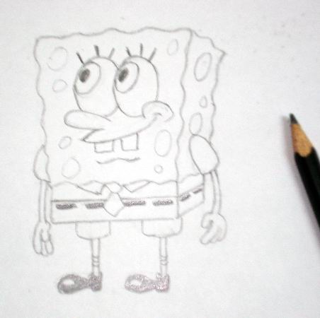 How to draw Spongebob 3