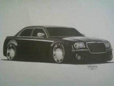 My Chrysler 300 drawing