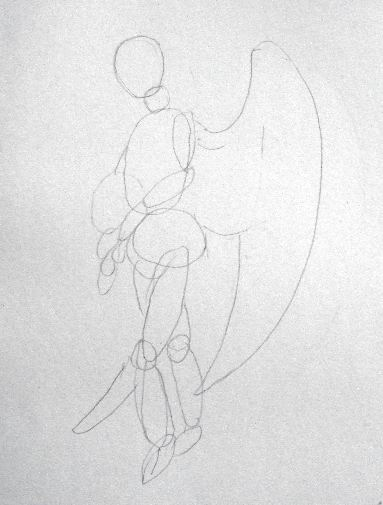 Angel Pencil Drawing - Sketch 1