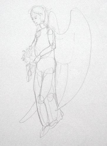 Angel Pencil Drawing - Sketch 2