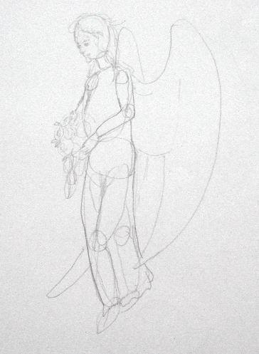 Angel Pencil Drawing - Sketch 2