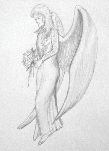 Pencil drawings of angels 4 jpg
