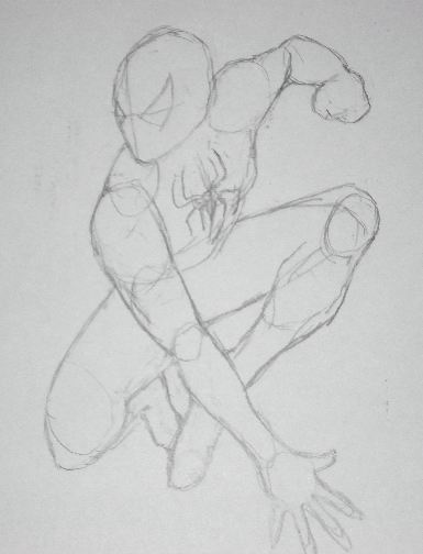 Pencil Drawings of Spiderman - Sketch 2