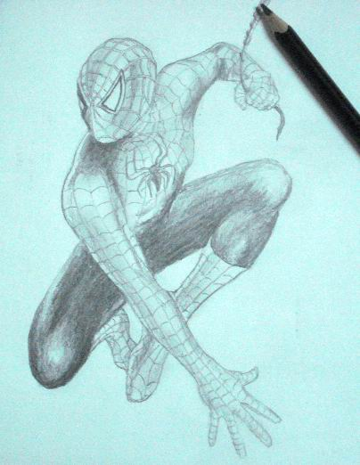 Pencil Drawings of Spiderman 1