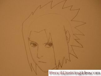 How to draw Sasuke Uchiha - Sketch 5
