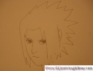 How to draw Sasuke Uchiha - Sketch 6