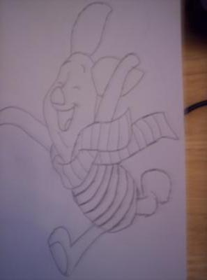 Piglet drawing